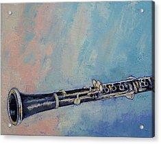 Clarinet Acrylic Print by Michael Creese