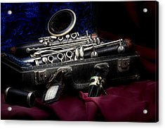 Clarinet Still Life Acrylic Print by Tom Mc Nemar
