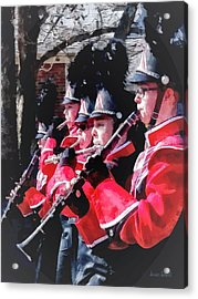 Clarinets And Flutes In The Parade Acrylic Print by Susan Savad