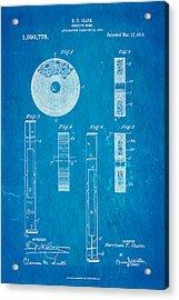 Clark Confetti Bomb Patent Art 1914 Blueprint Acrylic Print by Ian Monk