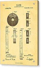 Clark Confetti Bomb Patent Art 1914 Acrylic Print by Ian Monk