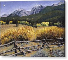 Clark Peak Acrylic Print by Mary Giacomini