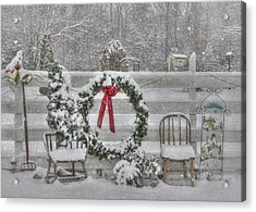Clarks Valley Christmas 3 Acrylic Print by Lori Deiter