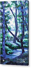 Clarksville Greenway 2 Acrylic Print by Janet Felts