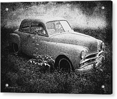 Clasic Car - Pen And Ink Effect Acrylic Print by Brian Wallace