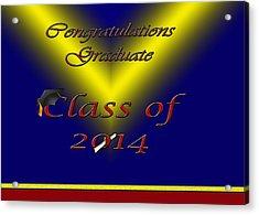 Class Of 2014 Card Acrylic Print