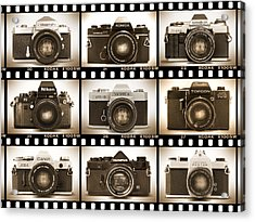 Classic 35mm S L R Cameras Acrylic Print by Mike McGlothlen