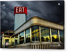 Classic American Diner Acrylic Print by Diane Diederich