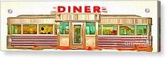 Classic Americana Diner Pop Acrylic Print by Edward Fielding