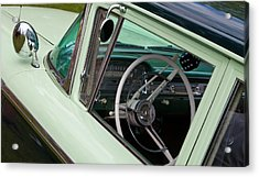 Classic Automobile Interior Acrylic Print by Mick Flynn