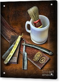 Classic Barber Shop Shave - Barber Shop Acrylic Print by Lee Dos Santos