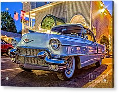 Classic Blue Caddy At Night Acrylic Print by Edward Fielding