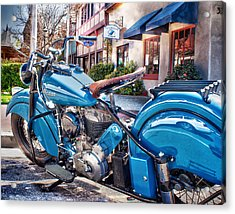 Classic Blue Indian Chief Acrylic Print by Steve Benefiel