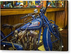 Classic Blue Indian  Acrylic Print by Steve Benefiel