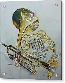 Classic Brass Acrylic Print by Jenny Armitage