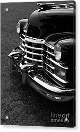 Classic Cadillac Sedan Black And White Acrylic Print