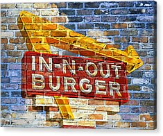 Classic Cali Burger 2.1 Acrylic Print by Stephen Stookey