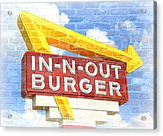 Classic Cali Burger 2.5 Acrylic Print by Stephen Stookey