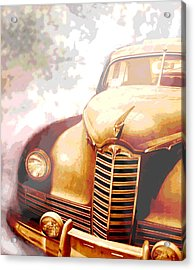 Classic Car 1940s Packard  Acrylic Print by Ann Powell