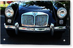 Classic Car Art - Vintage Mg Grill View Acrylic Print by Lesa Fine