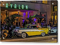 Classic Car At The Avalon Acrylic Print