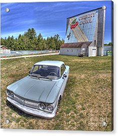 Classic Car At The Drive-in Acrylic Print