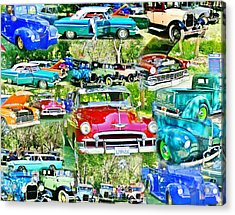 Classic Car Collage Acrylic Print