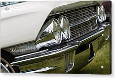 Acrylic Print featuring the photograph Classic Car Front Wing And Lights by Mick Flynn
