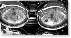 Classic Car Grill And Lights Acrylic Print by Mick Flynn