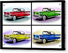 Classic Car Pop Art Acrylic Print by Jo Collins