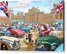 Classic Car Show At Blenheim 2015 Acrylic Print by Steve Crisp