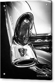 Classic Car Tail Fin Acrylic Print by Edward Fielding