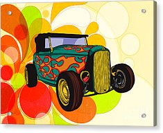 Classic Cars 09 Acrylic Print by Bedros Awak