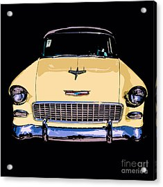 Classic Chevy Pop Art Acrylic Print by Edward Fielding