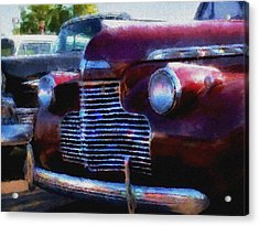 Classic Chevy Water Color Acrylic Print