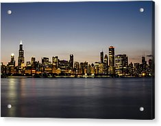 Classic Chicago Skyline At Dusk Acrylic Print