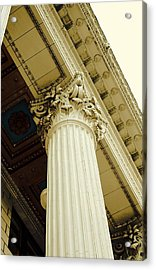 Classic Column Acrylic Print by Cathie Tyler
