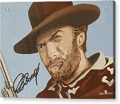 Classic Cool Clint Acrylic Print by James Lawler
