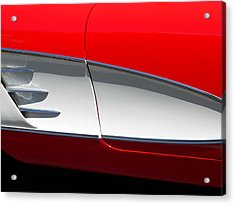 Acrylic Print featuring the photograph Classic Corvette Art by Jeff Lowe