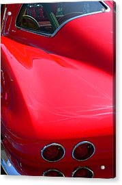 Acrylic Print featuring the photograph Classic Corvette Art Lines by Jeff Lowe