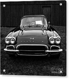 Classic Corvette Acrylic Print by Edward Fielding