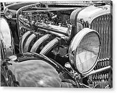 Classic Engine - Classic Cars At The Concours D Elegance. Acrylic Print by Jamie Pham