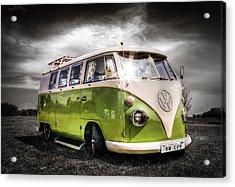 Classic Green Vw Campavan Acrylic Print