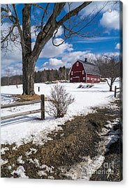 Acrylic Print featuring the photograph Classic New England Farm Scene by Edward Fielding