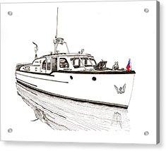 Classic Northwest Yacht Acrylic Print by Jack Pumphrey