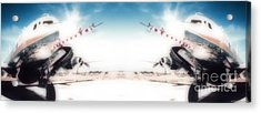 Acrylic Print featuring the photograph Propeller Aircraft by R Muirhead Art