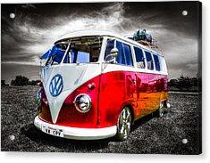 Classic Red Vw Campavan Acrylic Print
