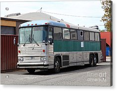 Classic Retro Greyhound Bus 5d25251 Acrylic Print by Wingsdomain Art and Photography
