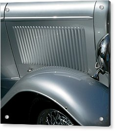 Acrylic Print featuring the photograph Classic Roadster Silver by Jeff Lowe