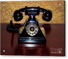 Classic Rotary Dial Telephone Acrylic Print by Mariola Bitner